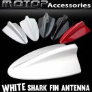 White BMW Style Dummy Shark Fin Roof Mount Decorative Aerial Antenna Decoration