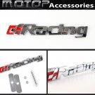 Red RACING 3D Metal Racing Logo Front Hood Grille Badge Emblem Car Decoration