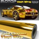 "Gold Chrome Mirror Vinyl Wrap Film Sticker Decal Air Release Bubble Free 4""x60"""