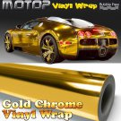 "Gold Chrome 16""x60"" Mirror Vinyl Wrap Film Sticker Decal Air Release Bubble Free"