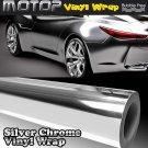 """20""""x60"""" Silver Chrome Mirror Vinyl Wrap Film Car Sticker Decal Air Bubble Free"""