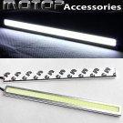 2 x 17cm Silver High Power COB LED Car Daytime Running Light Lamps DRL LED White
