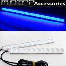 Pair 17cm Silver High Power COB LED Daytime Running Light Lamps DRL LED Blue
