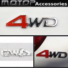 3D Metal Racing Front 4WD Badge Emblem Sticker Decal Self Adhesive 4WD