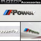 3D Metal ///Power Racing Front Badge Emblem Sticker Decal Self Adhesive M Power
