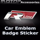 3D Metal R LINE Logo Racing Front Badge Emblem Sticker Decal Self Adhesive