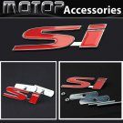 3D Metal SI Logo Racing Front Hood Grille Badge Emblem Red SI
