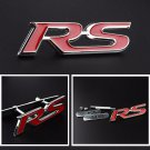 Red RS Logo 3D Metal RS Racing Front Hood Grille Badge Emblem