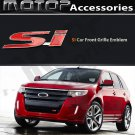 SI 3D Metal Red SI Racing Front Hood Grille Badge Emblem