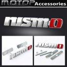 3D Metal NISMO Racing Front Hood Grille Badge Emblem Nismo Logo