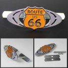 Route 66 3D Metal 66 Route Racing Front Hood Grille Badge Emblem