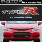 Type R Logo 3D Metal Silver TYPE-R Racing Front Grill Grille Badge Emblem