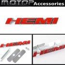 3D Metal Red HEMI Racing Front Hood Grille Badge Emblem Car Decoration HEMI Logo