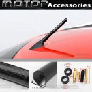 "4.7"" 12cm Universal Black Carbon Fiber Screw AM/FM Short Radio Aerial Antenna"