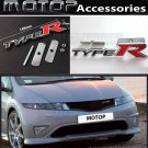 3D Metal Type-R Logo Racing Front Hood Grille Badge Emblem Silver TYPE R