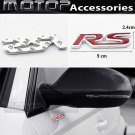 Red RS 3D Metal RS Racing Front Badge Emblem Sticker Decal Self Adhesive Decora