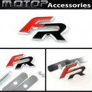 3D Metal Red FR Racing Front Hood Grille Badge Emblem Car Decoration FR Logo