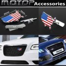 US USA American Flag 3D Metal Racing Front Grill Grille Badge Emblem