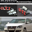 GTI 3D Metal Red GTI Racing Front Hood Grille Badge Emblem Decoration