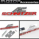 3D Metal Red AC-Schnitzer Racing Front Hood Grille Badge Emblem Car Decoration