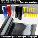 30cmX150cm DARK BLACK Headlight Taillight Fog Light Tint Vinyl Film Sticker