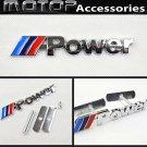 M Power 3D Metal Racing Front Hood Grille Badge Emblem Decoration ///Power Logo