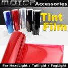 RED 30cmX150cm Headlight Taillight Fog Light Tint Vinyl Film Sticker