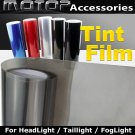 LIGHT BLACK Headlight Taillight Fog Light Tint Vinyl Film Sticker 30cmX150cm
