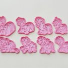 8 Pcs of My Little Pony Cookie Cutters/3D Printed Cookie Stamps/Embossing Cookie Mold/Theme Party