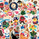 39 Pcs Fairy Tales Line Friends Sticker Pack/Laptop Suitcase Deco/Scrapbooking/Diary Deco