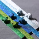 Blue and Green Magical Fairy Dust Origami Lucky Star Paper Strips DIY - Pack of 60 strips
