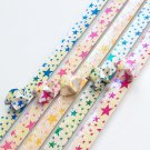 Pearlescent Starry Night Origami Lucky Star Paper Strips - Pack of 50 Strips