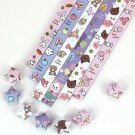 Cute Bunny Origami Lucky Star Paper Strips Star Folding DIY - Pack of 130 Strips