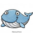 Whale Embroidered Patches/Animal Patches/Iron-On/Sew-On Patch/Patch For Jeans