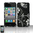 Hard Rubber Feel Design Case for Apple iPhone 4/4S - Midnight Garden