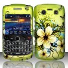 Hard Rubber Feel Design Case for Blackberry Bold 9700/9780 - Hawaiian Flowers