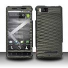 Hard Rubber Feel Design Case for Motorola Droid X MB810 (Verizon)/Milestone X - Carbon Fiber