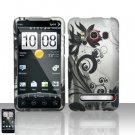 Hard Rubber Feel Design Case for HTC EVO 4G (Sprint) - Black Vines