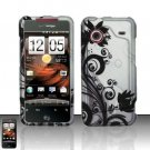 Hard Rubber Feel Design Case for HTC DROID Incredible (Verizon) - Black Vines