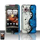 Hard Rubber Feel Design Case for HTC DROID Incredible (Verizon) - Blue Vines