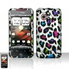 Hard Rubber Feel Design Case for HTC DROID Incredible (Verizon) - Colorful Leopard