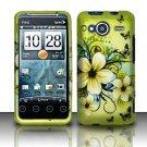 Hard Rubber Feel Design Case for HTC EVO Shift 4G - Hawaiian Flowers
