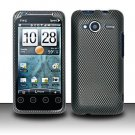 Hard Rubber Feel Design Case for HTC EVO Shift 4G - Carbon Fiber