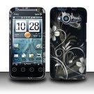 Hard Rubber Feel Design Case for HTC EVO Shift 4G - Midnight Garden