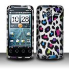 Hard Rubber Feel Design Case for HTC EVO Shift 4G - Colorful Leopard