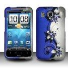Hard Rubber Feel Design Case for HTC Inspire 4G/Desire HD - Purple Vines