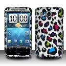 Hard Rubber Feel Design Case for HTC Inspire 4G/Desire HD - Colorful Leopard