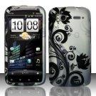 Hard Rubber Feel Design Case for HTC Sensation 4G (T-Mobile) - Black Vines