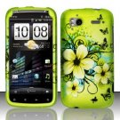 Hard Rubber Feel Design Case for HTC Sensation 4G (T-Mobile) - Hawaiian Flowers