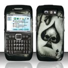Hard Rubber Feel Design Case for Nokia E71 - Spade Skull